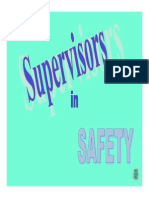 Role of Supervisor in Safety Trng