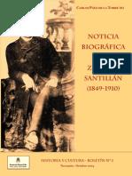 Noticia Biografica Sobre Zenon j. Santillan - Por Carlos Paez de La Torre (h)