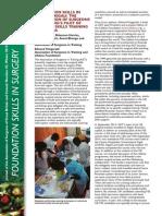 Foundation Skills in Surgery, Kigali, Rwanda - JASGBI, Winter 2014