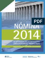 Nomina de Autoridades 2014.