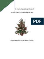 Laporan Pertanggungjawaban (LPJ) Panitia Natal POUKAD 2014