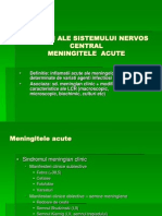 Infectii AINFECTII ALE SISTEMULUI NERVOS CENTRAL.pptle Sistemului Nervos Central