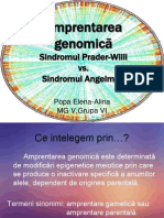 Amprentarea genomica