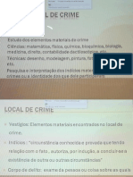 Local Do Crime - Medicina Forense