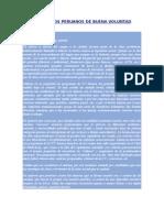 Carta a Los Peruanos de Buena Voluntad
