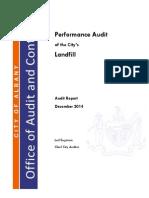 2014 Landfill Audit