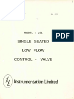 Single Seated Low Flow Control Valve