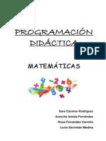 Programación Didáctica Matemáticas