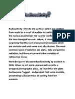 What is Radioactivity