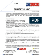 All India P.T. Test Series Complete Test CSAT
