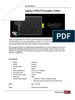 Marketing of Wacom Bamboo Graphic Tablet CTH