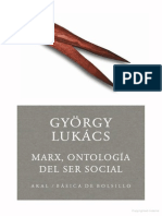 Gyorgy, Lukacs - Marx, Ontologia Del Ser Social