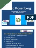 Caso Rosenberg Final, investigación realizada por la CICIG
