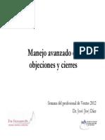 Manejo Avanzado de Objeciones y Cierres SME 2012 (1)