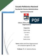 TRABAJO CLIMA ORGANIZACIONAL LOGINET CIA. LTDA..docx