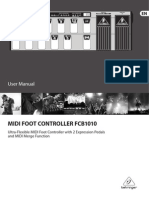 Behringer FCB1010 MIDI Foot Controller User Manual (English)