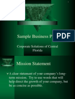 Sample Business Plan ppt