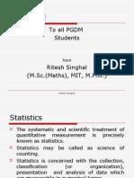 Statistics Slides