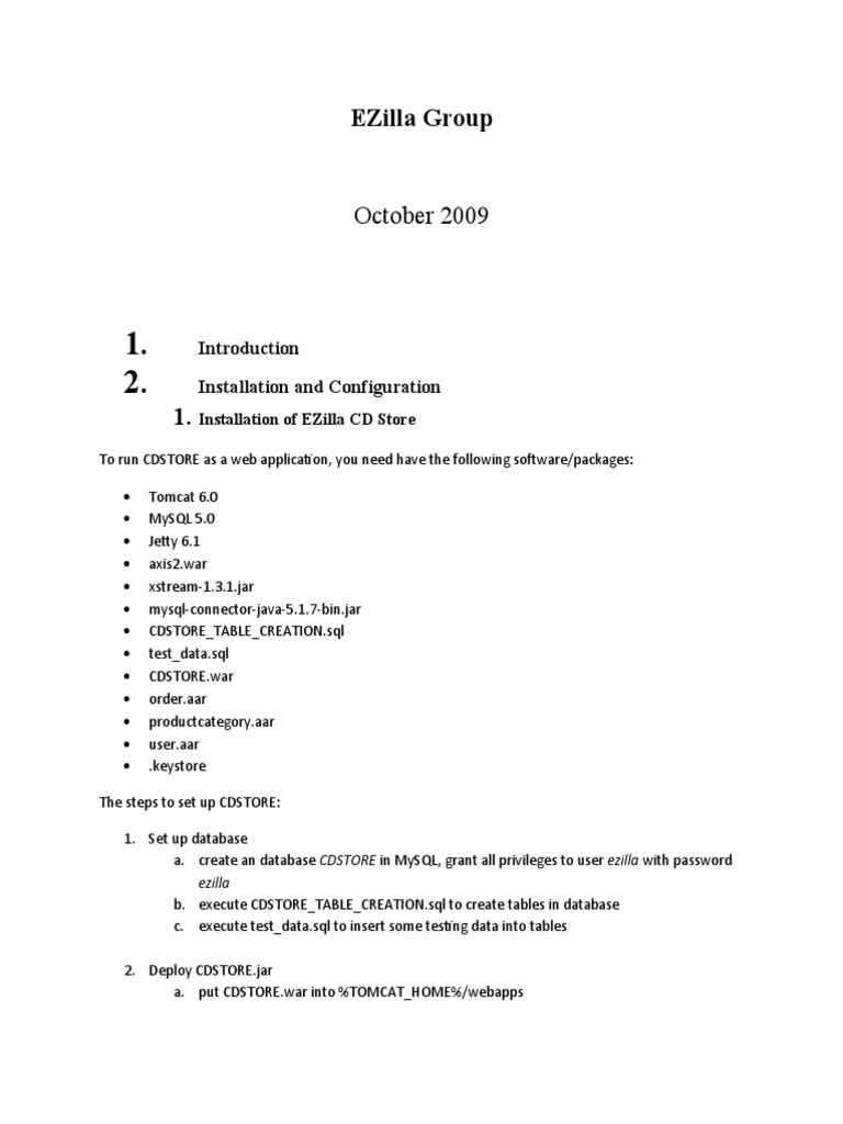 EZilla Group | Web Application | My Sql