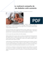 Diresa Puno Realizará Campaña de Despistaje de Diabetes Ante Aumento de Casos