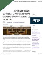 REFORMAS EN MATERIA MERCANTIL (JUNIO 2014)