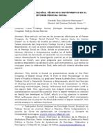 Metodologías, Teorías, Técnicas e Instrumentos en El Informe Pericial Social