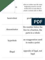 january word list 2015 vocab cards