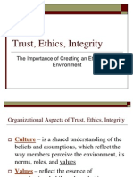 Trust, Ethics, Integrity
