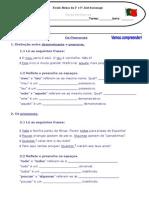 FT - Distinção Determinantes Pronomes