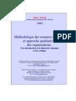 Méthodologie des sciences sociales et approche qualitative des organisations