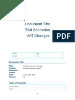 VAT Test Results & Notes
