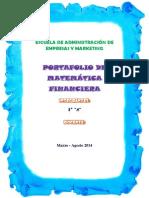 PORTAFOLIO MATEMATICA FINANCIERA