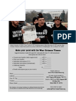 WAR CRIMES TIMES Subscription Order Form