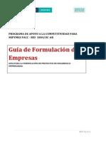 Guía de Formulación Empresas