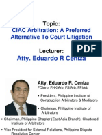 (CIAC Arbitration.ppt; A Preferred Alternative to Court Litigation).ppt