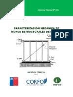 Caracterizacion Mecanica de Muros Estructurales de Madera (CORFO-INFOR 2012)