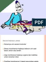 Etiologi inkontinensia urin