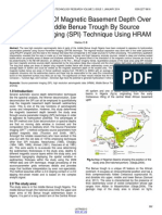 Determination of Magnetic Basement Depth Over Parts of Middle Benue Trough by Source Parameter Imaging Spi Technique Using Hram