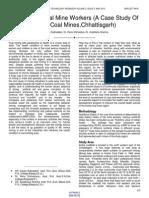 Nutrition of Coal Mine Workers a Case Study of Korba Coal Mineschhattisgarh