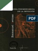 Levinas Emmanuel - La Teoria Fenomenologica de La Intuicion