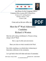 Richard Wooten Campaign Office Flyer