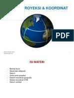 Sistem Proyeksi Dan Koordinat