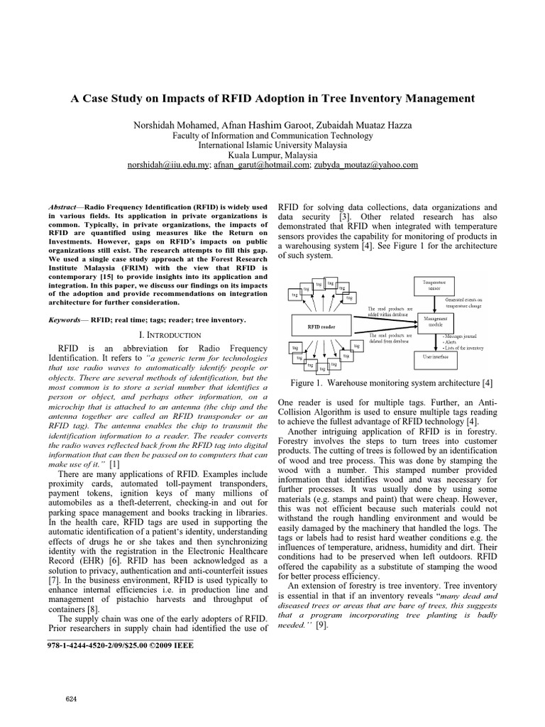 A Case Study on Impacts of RFID Adoption in Tree Inventory