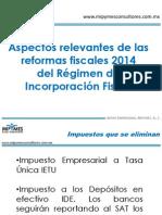 Reformas Fiscales Regimen Incorporacion