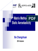 L4_Matrix Method of Static Aeroelasticity