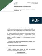 Peças - Gustavo Junqueira - Xiii Exame de Ordem - Penal
