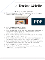 creating a teacher website