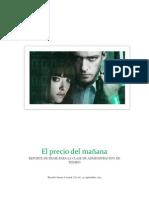 "Reporte de Pelicula ""In Time"""