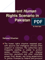 Current Human Rights Scenario in Pakistan