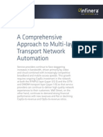 A Comprehensive Approach to Multi-layer Transport Network Automation